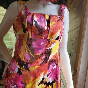 RONNI NICOLE Pink abstract floral dress